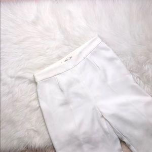 DIANE VON FURSTENBERG IVORY HIGHWAIST DRESS PANTS